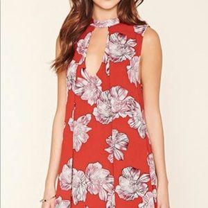 Dresses & Skirts - Forever21 Red Floral Dress
